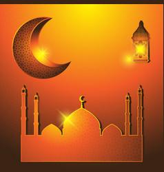 religious holiday ramadan mosque a vector image