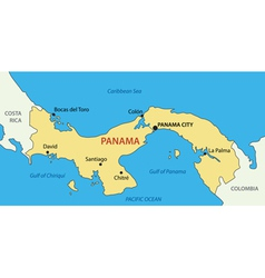 Republic of Panama - map vector