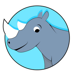 rhinoceros icon flat vector image