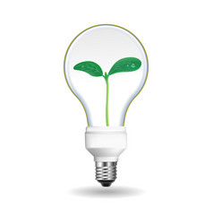 save energy bulb icon realistic style vector image