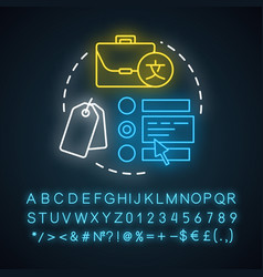 select pricing plan neon light concept icon vector image