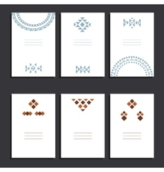 Set invitation card vector