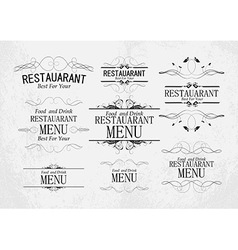 set of templates for restaurant menu vector image