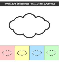 simple outline transparent cloud icon vector image