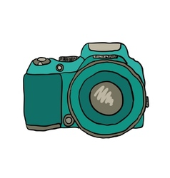 sketch a photo camera drawn hand vector image