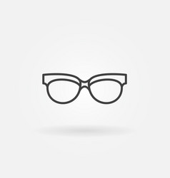 Spectacles linear icon sunglasses line vector