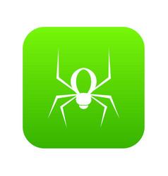 spider icon digital green vector image
