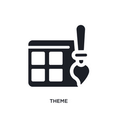 Theme isolated icon simple element from vector
