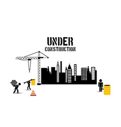 under construction vector image