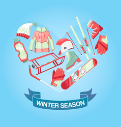 winter season banner vector image
