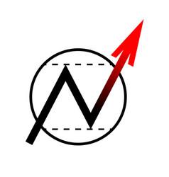 arrow icon moves up vector image
