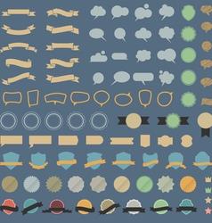 Big set of design elements and speech bubblesin vector image