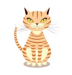 Cartoon red cat vector image vector image