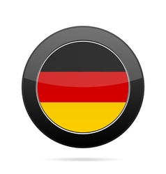 Flag of Germany Shiny black round button vector image