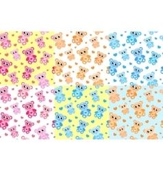 Kids seamless pattern with teddy bear Bears vector image