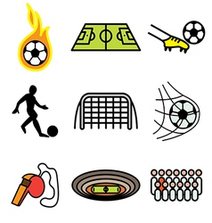 logo icons soccer vector image vector image