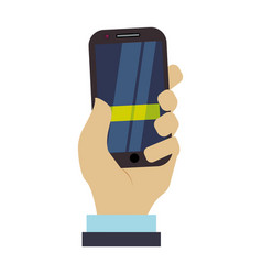 mobile smartphone technology vector image