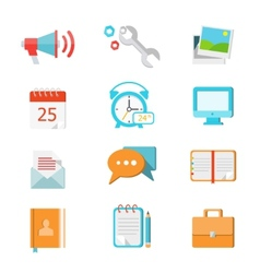 Set of flat colorful icons vector image vector image
