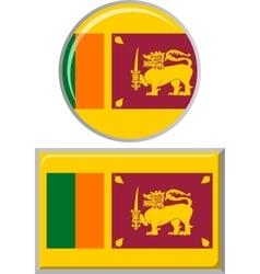 Sri Lanka round and square icon flag vector image