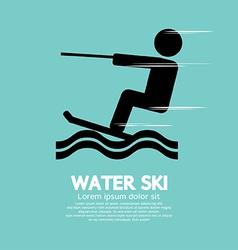 Water Ski Sport Sign vector image