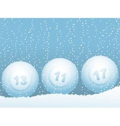 Bingo or lottery ball vector