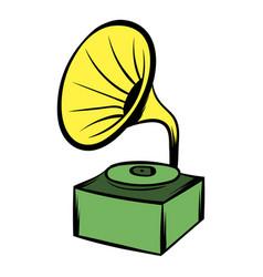 gramophone icon cartoon vector image vector image