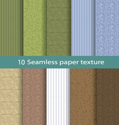 Paper seamless texture background set 2 vector image vector image
