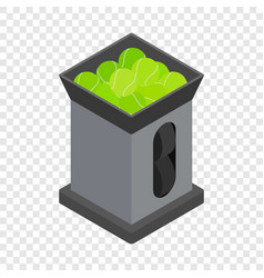 tennis ball machine isometric icon vector image