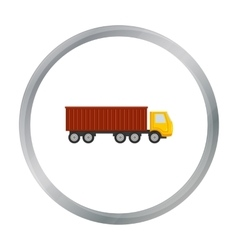 Truck delivery icon of for web vector image vector image