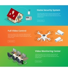 Alarm system Security system Security camera vector image vector image