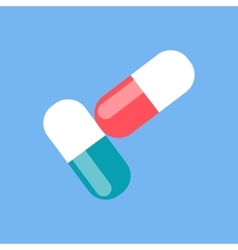 Colorful Pills Design Flat Icon vector image
