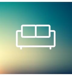 Furniture sofa thin line icon vector image vector image