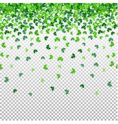 seamless pattern with shamrock clover falling vector image vector image