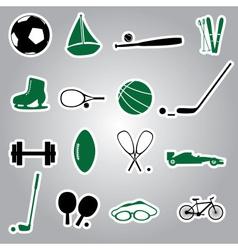 sport equipment stickers eps10 vector image vector image