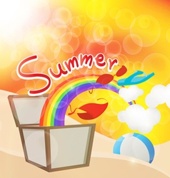 summer box vector image vector image