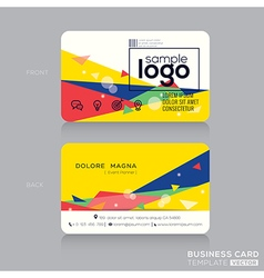 trendy business card design template vector image vector image