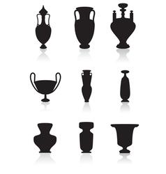 Vases bottles and urns vector image