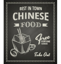 Chinese food poster vector image