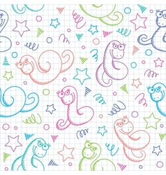 pattern with snakes vector image vector image