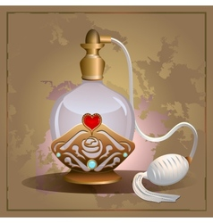 Perfume heart bottle vector image