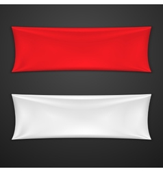 Red And White Textile Banner Set vector image vector image