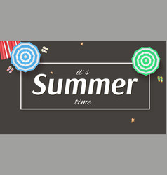 summer background banner with sun umbrellas vector image