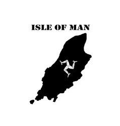 symbol of isle of man and map vector image vector image