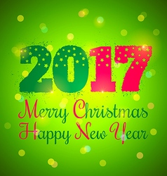2017 and lights green vector image