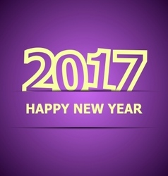 2017 Happy New Year on violet background vector image