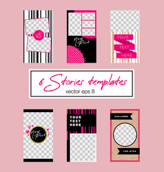 6 stories templates vector image