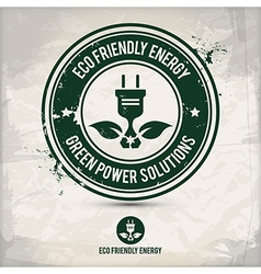 alternative eco friendly energy stamp vector image