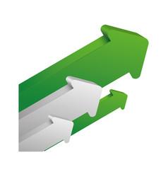 arrows up increase vector image vector image