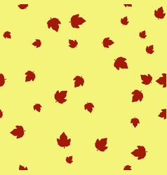 ashleaf maple leaf red pattern seamless color vector image
