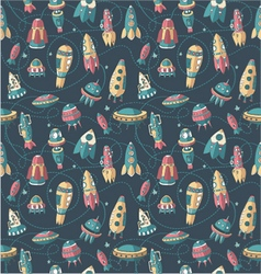 Background spaceships pattern shuttles vector